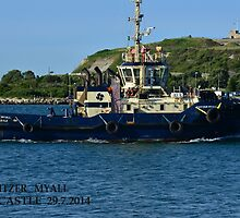 SVITZER TUG - MYALL by Phil Woodman