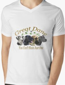 Great Dane Can't Have Just One Mens V-Neck T-Shirt