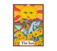 The Sun Cryptozoology Tarot Card  Art Print
