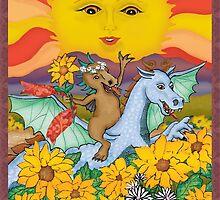 The Sun Cryptozoology Tarot Card  by Kim  Harris
