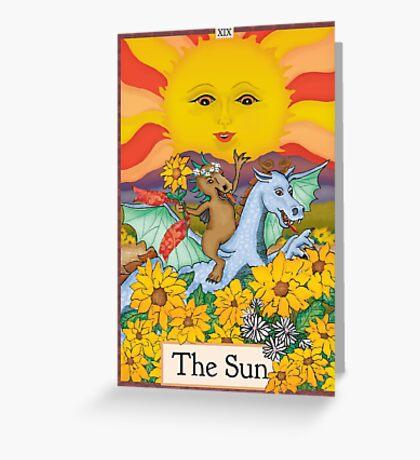 The Sun Cryptozoology Tarot Card  Greeting Card