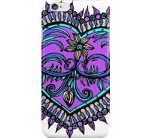 Blue and Purple heart iPhone Case/Skin