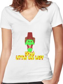 """Kettle Witch-""""Hello, Little Old Lady"""" Women's Fitted V-Neck T-Shirt"""