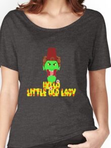 """Kettle Witch-""""Hello, Little Old Lady"""" Women's Relaxed Fit T-Shirt"""