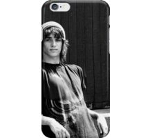 Young man in alley iPhone Case/Skin