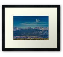 Moonset Over Indian Peaks Framed Print