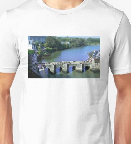 The Pont de St Goustan  -  Auray - Brittany - Tilt Shift Effect Unisex T-Shirt