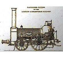 Bury Type Passenger Locomotive circa 1840 Photographic Print