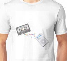 cassette tape to Ipod illustration Unisex T-Shirt
