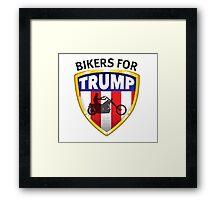 Bikers For Trump Framed Print