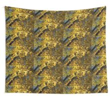 Golden Canopy - Look Up to the Trees and Enjoy Autumn - Horizontal Left Wall Tapestry