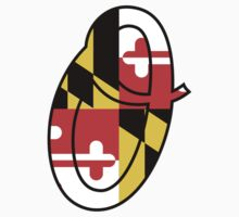 Baltimore Letter O with Maryland Flag by canossagraphics