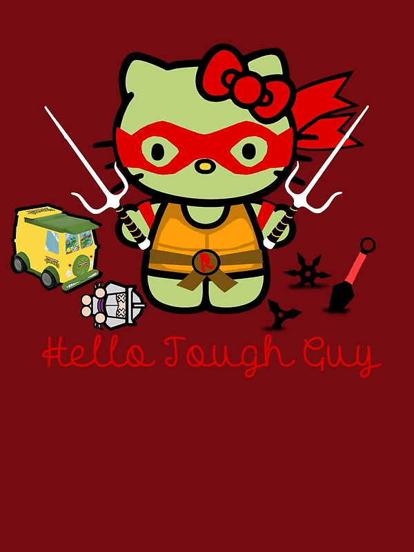 Hello Ninja Turtle Tough Guy by scribbleworx