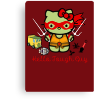 Hello Ninja Turtle Tough Guy Canvas Print