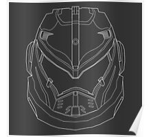 Gypsy Danger Wire Art - White Poster
