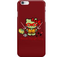 Hello Ninja Turtle Tough Guy iPhone Case/Skin