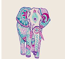 Colorful Elephant by MZawesomechic