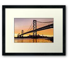 Golden City Framed Print