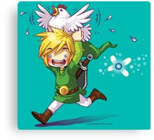 Cucco Run! - Legend of Zelda Canvas Print