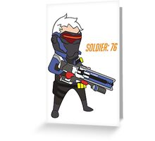 Overwatch - Cute Soldier 76 Greeting Card