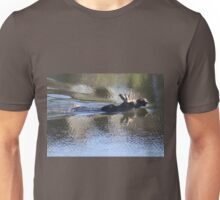 Swimming Moose Unisex T-Shirt