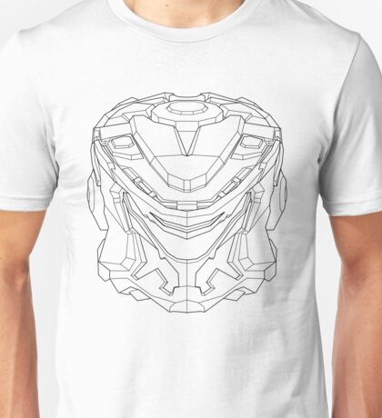 Striker Eureka Line Art - Black Unisex T-Shirt