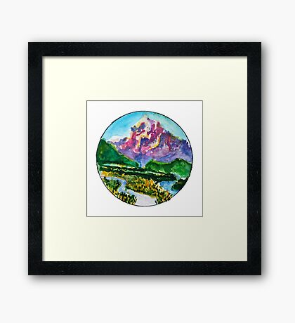 I am the mountain Framed Print