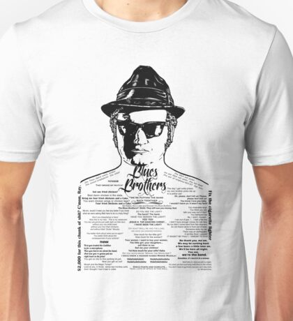Jake Blues Brothers tattooed 'Four Fried Chickens' Unisex T-Shirt