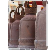 Row of hanging buddhist religious bells in Thailand temple iPad Case/Skin