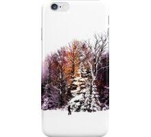 Lone skier  iPhone Case/Skin