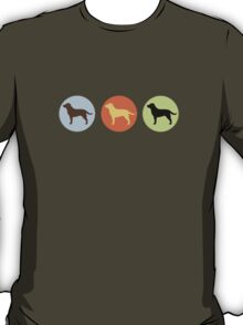 Labrador Retrievers: Chocolate, Yellow, Black T-Shirt