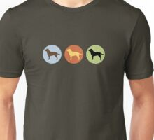 Labrador Retrievers: Chocolate, Yellow, Black Unisex T-Shirt
