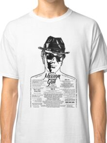 Elwood Blues Brothers tattooed 'Dry White Toast' Classic T-Shirt