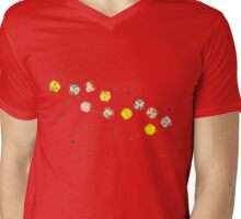 Funny Cool and Colorful Plastic Jewels  Mens V-Neck T-Shirt