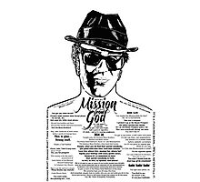 Elwood Blues Brothers tattooed 'Dry White Toast' Photographic Print