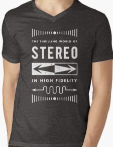 High Fidelity Stereo (white) Mens V-Neck T-Shirt