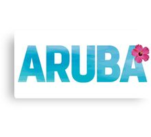 Aruba Design with Flower Canvas Print