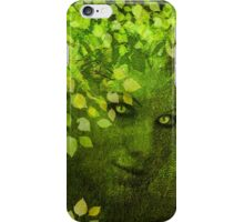 GREEN WOMAN SPRING COMING iPhone Case/Skin