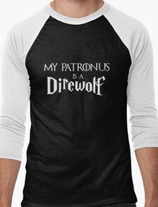 My Patronus is a Direwolf Men's Baseball ¾ T-Shirt