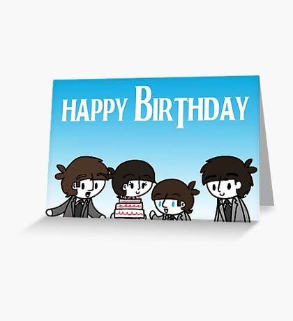 Beatles Birthday Greeting Card