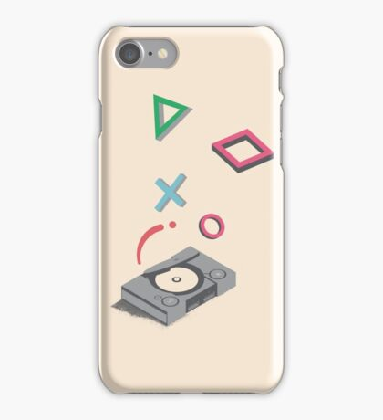 ElectroVideo Playstation (Grey) iPhone Case/Skin