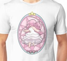 Rose Quartz Stained Glass Window Unisex T-Shirt