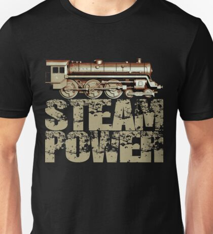 Steam Power Vintage Steam Engine Unisex T-Shirt