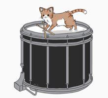 Drum cat by marimbasian
