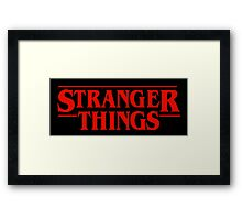 Stranger Things Logo Framed Print