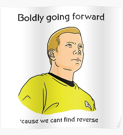Boldly Going Poster