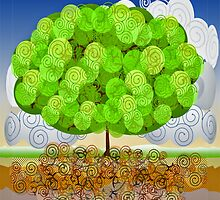 Spring Tree - Life Cycle by BagChemistry