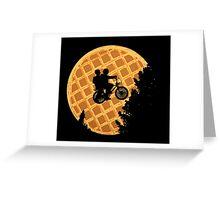 Moon's Waffle Stranger Things Greeting Card