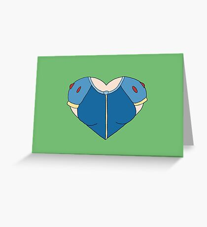 A Heart as White as Snow Greeting Card