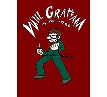 Will Graham VS the world Photographic Print